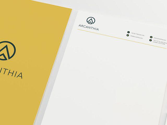 deon-design-portfolio-arcanthis-brand-letterhead-head