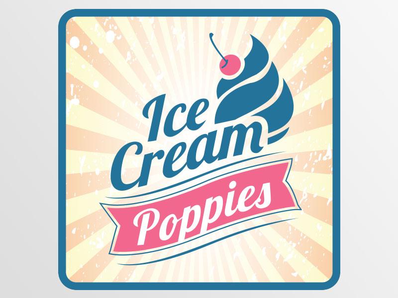 deon-design-poppies-ice-cream-logo