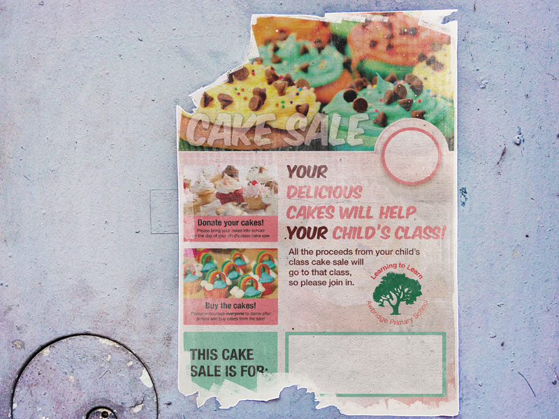 cake-sale-poster-design-awbridge-school