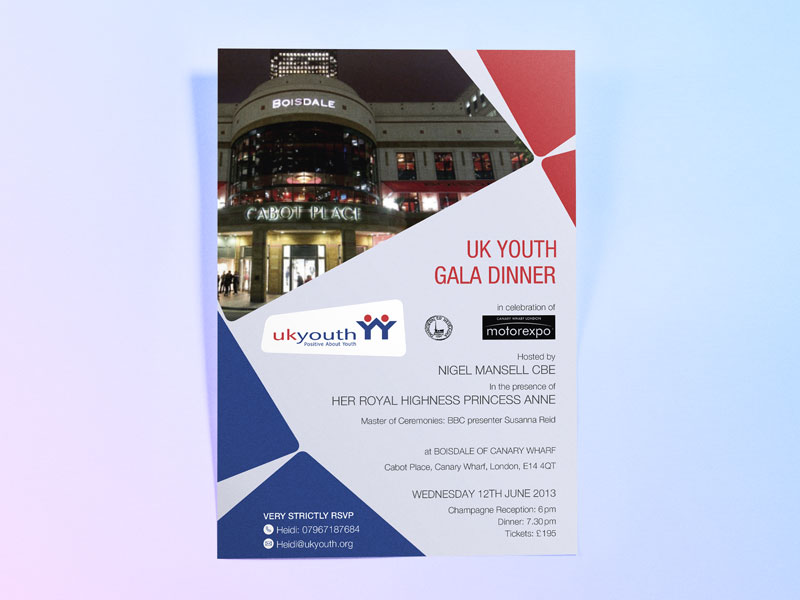 Uk youth charity gala dinner invite design deon design charity dinner invitation design uk youth stopboris Choice Image