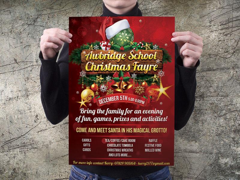 christmas-fair-poster-design-awbridge-school