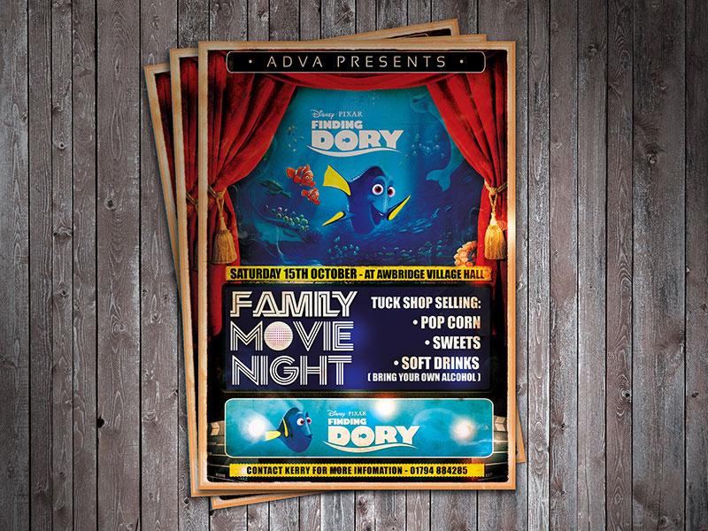 flyer-design-movie-night-awbrige-village