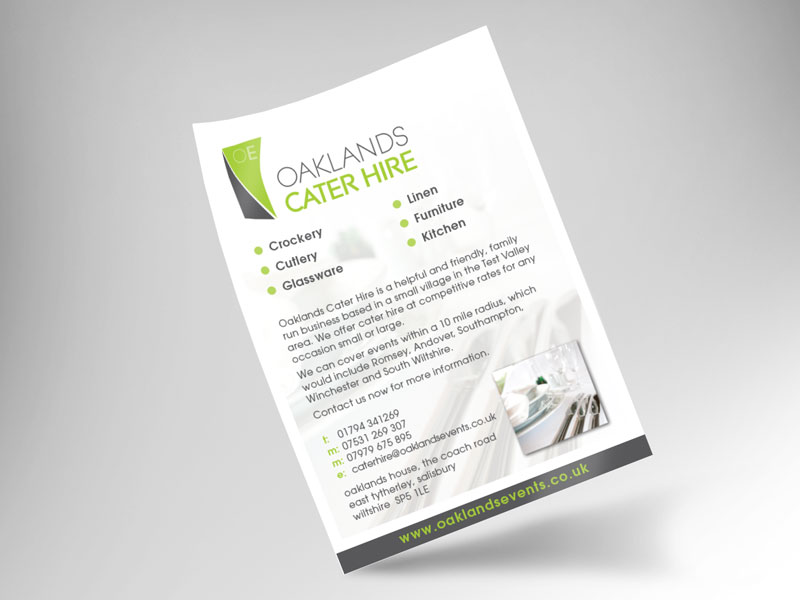flyer-design-oaklands-cater-hire