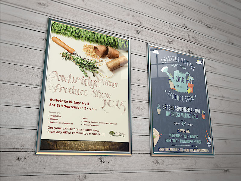 flyer-design-produce-show-awbrige-village