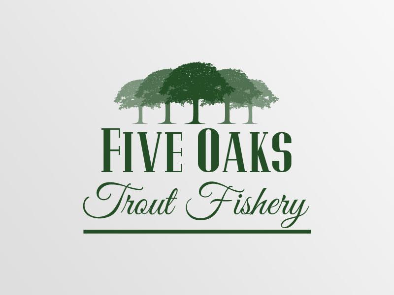 logo-design-five-oaks-trout-fishery