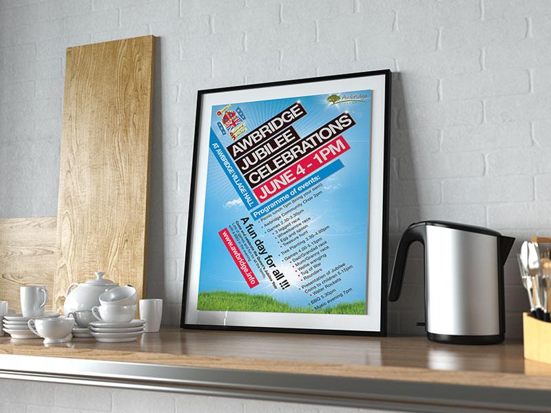 poster-design-jubilee-celebrations-2014-awbrige-village