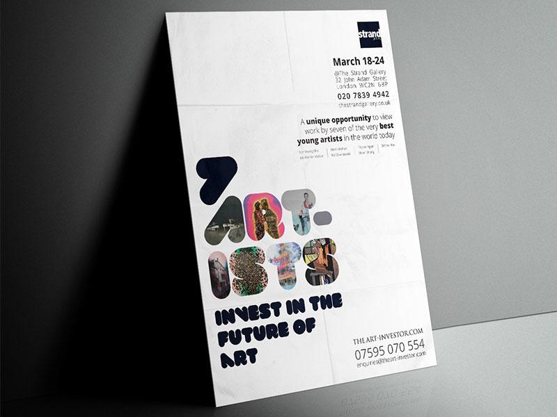 poster-design-seven-artists-exhibition-new-genius