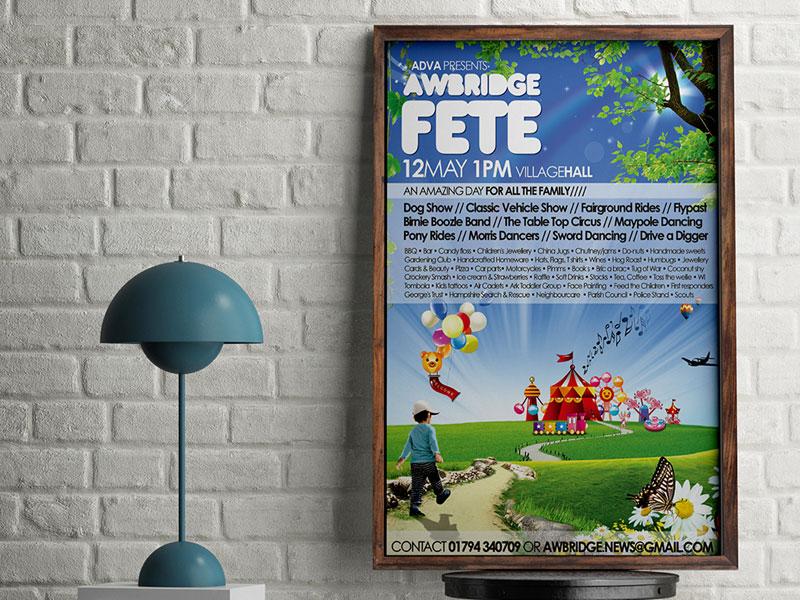 poster-design-village-fete-2012-awbrige-village