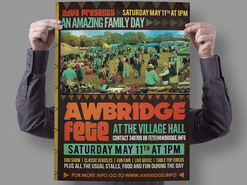 poster-design-village-fete-2013-awbrige-village