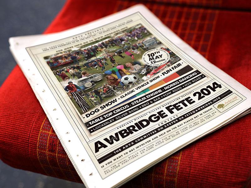 poster-design-village-fete-2014-awbrige-village