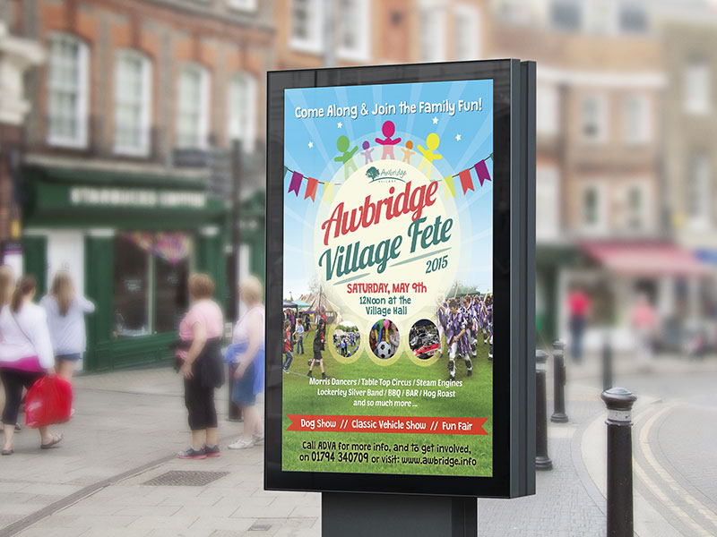 poster-design-village-fete-2015-awbrige-village