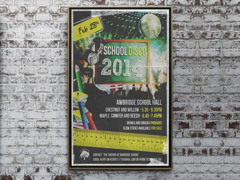 school-disco-poster-design-awbridge-school
