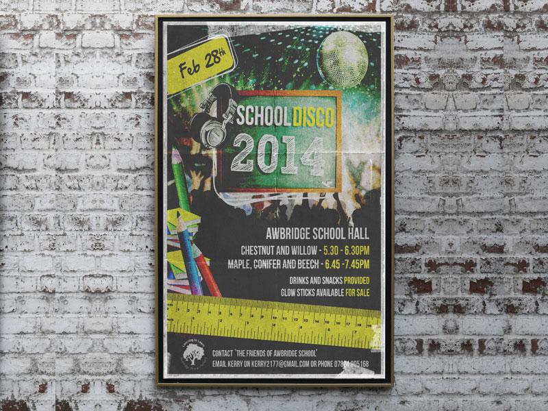school-disco-poster-design-awbridge-school