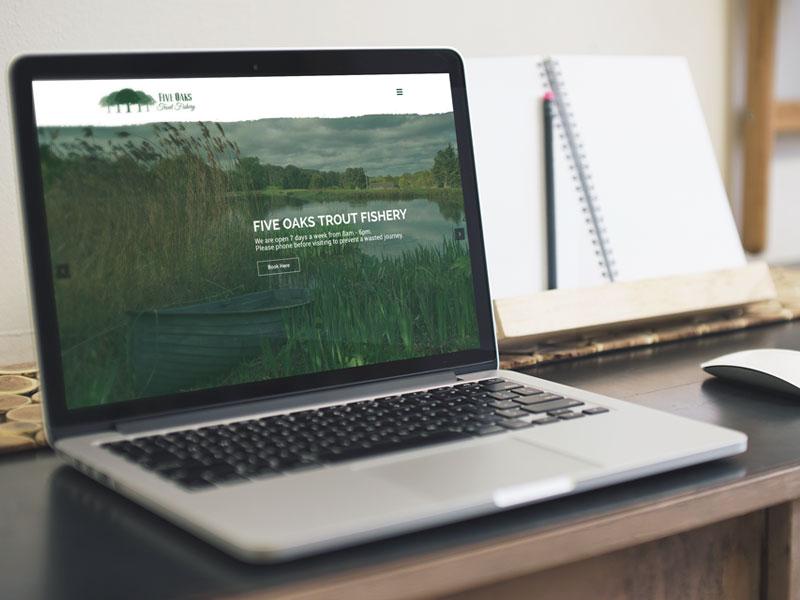 website-design-five-oaks-trout-fishery