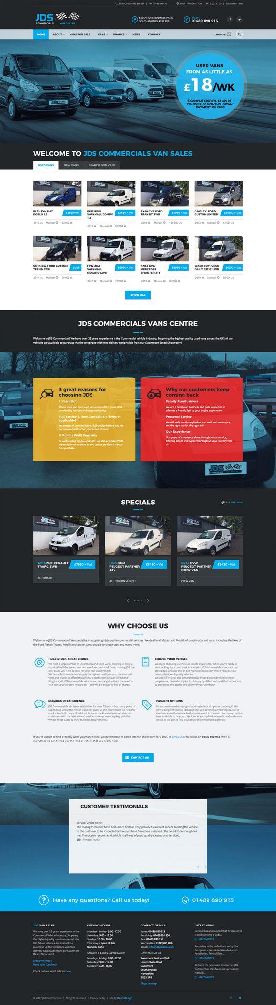 website-design-jds-van-sales-full