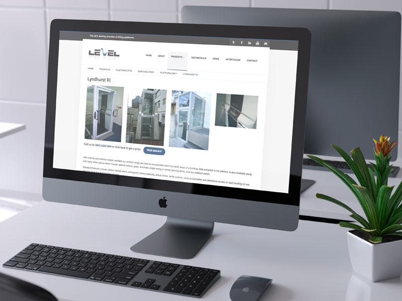 website-design-level-access-lifts