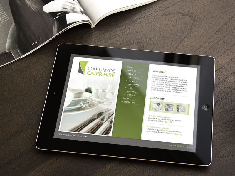 website-design-oaklands-cater-hire